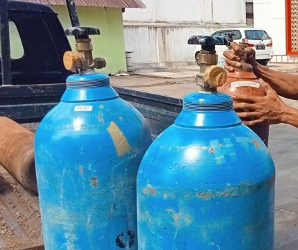 138 Tabung Oksigen Hasil Sitaan Diserahkan ke Pemprov DKI