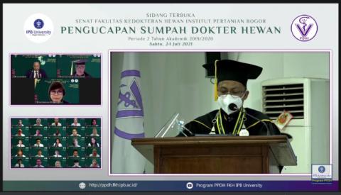 IPB Ambil Sumpah 106 Dokter Hewan Baru, 22 di Antaranya WNA