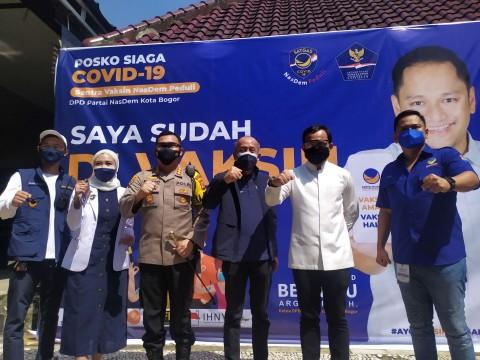 Bima Arya Apreasiasi Vaksinasi Massal Partai NasDem di Kota Bogor
