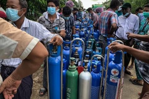 Myanmar akan Terima 200 Konsentrator Oksigen dari Singapura