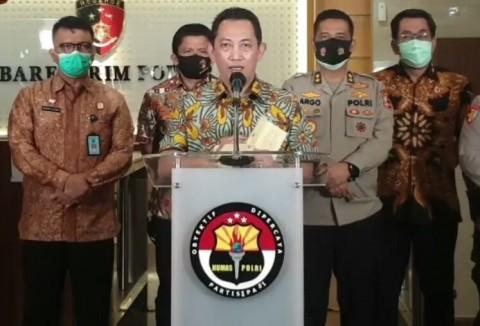 Kapolri Instruksikan Anggota Bangun Posko PPKM di Pasar Rakyat