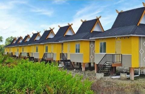 Rumah Panggung Tipe 28 Dibangun untuk Nelayan di Riau