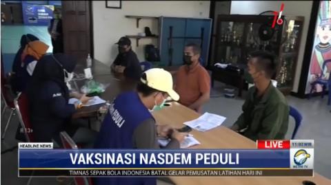Vaksinasi Dosis Pertama NasDem Peduli di Jakut Rampung Hari Ini