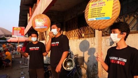 Lawan Pandemi, Mahasiswa Kampanye Prokes di Pasar