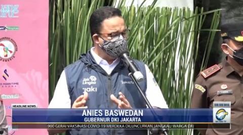 Anies: Kartu Vaksin Jadi Syarat Saat Pelonggaran PPKM di DKI Jakarta
