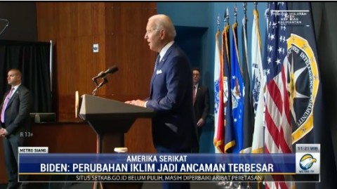 Bahas Perubahan Iklim, Joe Biden Singgung Jakarta Terancam Tenggelam