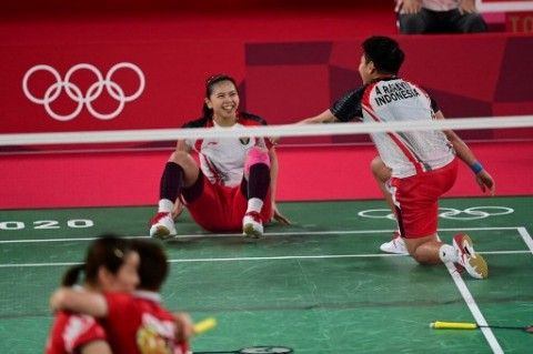 4 Momen Menarik saat Greysia/Apriyani Sukses Sabet Emas Olimpiade Perdana