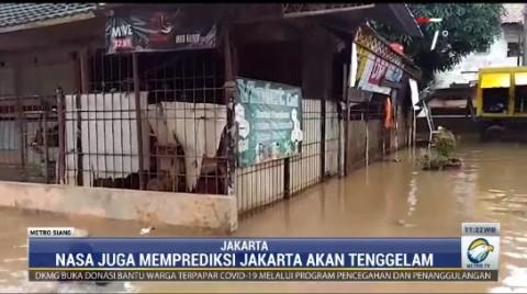 Permukaan Air Laut Lebih Tinggi dari Tanah di Muara Baru Jakarta