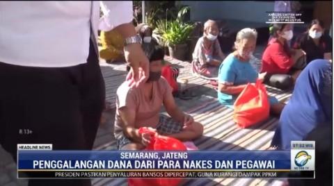 Pegawai RSUD Wongsonegoro Semarang Urunan Bagi Bansos untuk Warga