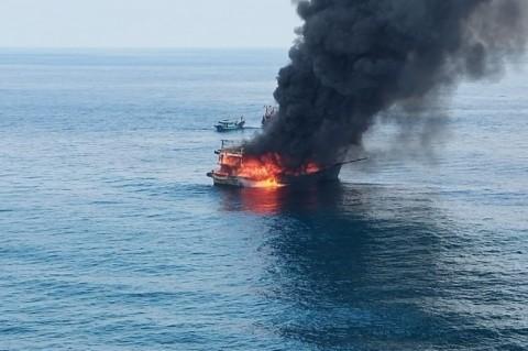 Kapal Nelayan Terbakar di Perairan Pulau Berhala, Seorang ABK Tewas