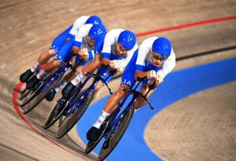 Tim Balap Sepeda Italia Pecahkan Rekor Dunia dan Rebut Emas Beregu Putra