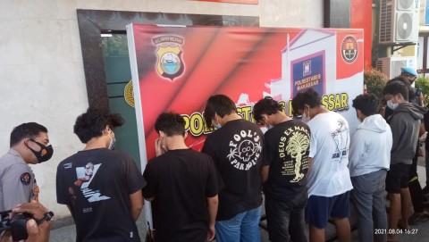 8 Pelaku Tarung Bebas Ilegal di Makassar Ditangkap