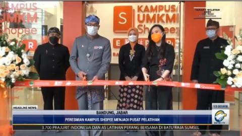 Ridwan Kamil Resmikan Kampus UMKM Shopee di Bandung