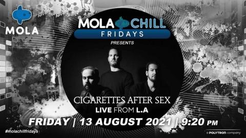 Teza Sumendra dan Cigarettes After Sex Tampil di Mola TV Malam Ini