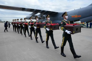 Prosesi Pemulangan 109 Jenazah Prajurit Tiongkok dari Korsel