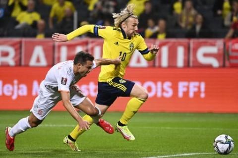 Swedia Bikin Spanyol Kembali Merasakan Kekalahan di Kualifikasi Piala Dunia