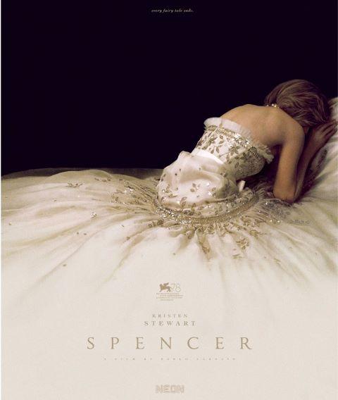 Kristen Stewart, terbenam dalam keindahan gaun yang diremake dari baju Lady Diana dalam poster 'Spencer'. (Foto: Dok. Vouge.fr/Neon)