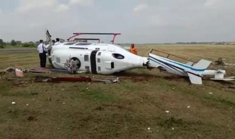 Helikopter Terguling di Tangerang Diduga karena Gangguan Mesin