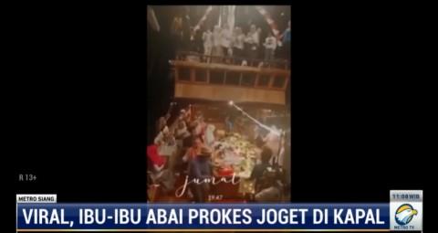 Viral, Ibu-ibu Asyik Joget Tanpa Masker di Kapal Pinisi Makassar