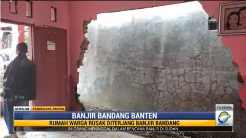 Tak Hanya Rangkasbitung, Banjir Bandang terjang Rumah Warga Pandeglang