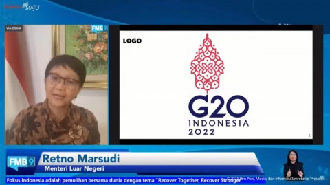 Menlu Retno Jelaskan Makna Logo Presidensi G20 Indonesia