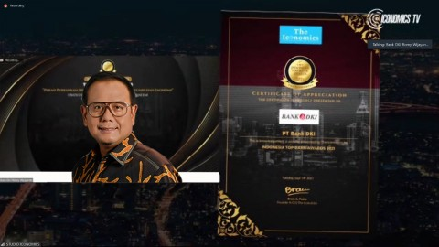 Sinergi Bersama BUMD, Bank DKI Raih Indonesia Top Bank 2021