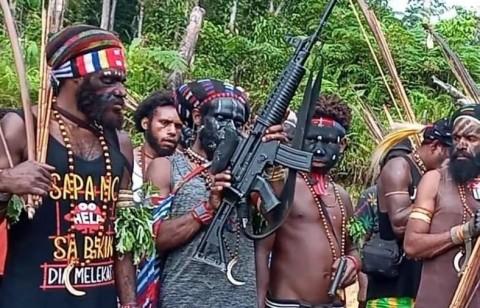 KNPB Hancurkan Jembatan di Kampung Fakario Papua