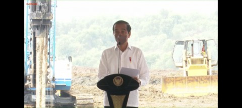 Jokowi Attends Groundbreaking Ceremony for Electric Vehicle Battery Factory