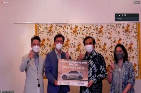 KBRI Seoul Terima Mobil Listrik Hyundai untuk Program Transformasi Hijau