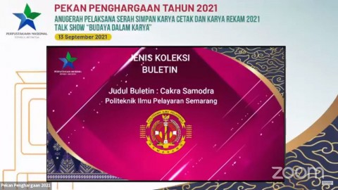 Buletin Cakra Samodra PIP Semarang Raih Penghargaan dari Perpusnas