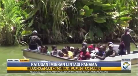 Ratusan Imigran Lintasi Panama Melalui Celah Darien