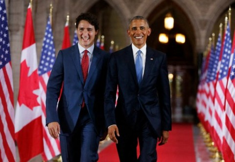 Obama Beri Dukungan ke Trudeau dalam Pemilu Kanada