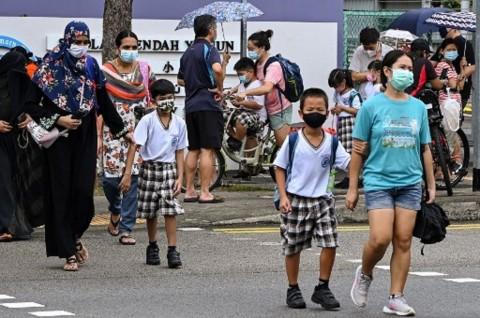 Lonjakan Kasus Covid-19, Semua SD di Singapura Terapkan <i>Full Online</i>