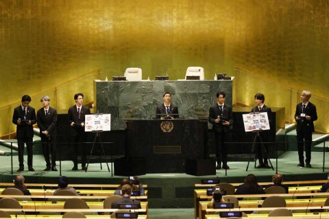Ini Isi Pidato BTS di Sidang PBB yang Menggetarkan Dunia