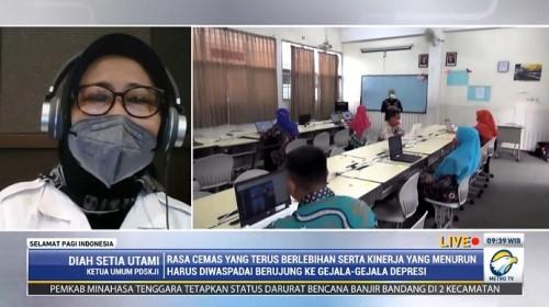 Ketua Umum Perhimpunan Dokter Spesialis Kedokteran Jiwa Indonesia (PDSKJI) Diah Setia Utami. Metro TV.