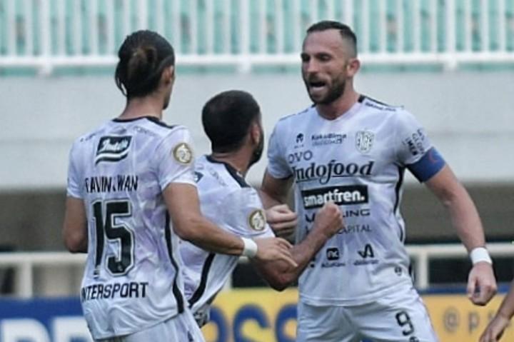 Brace Spasojevic Bawa Bali United Tekuk Persita Tangerang 2-1