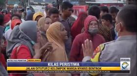 Emak-Emak di Medan Nyaris Bentrok Akibat Penutupan Jalan