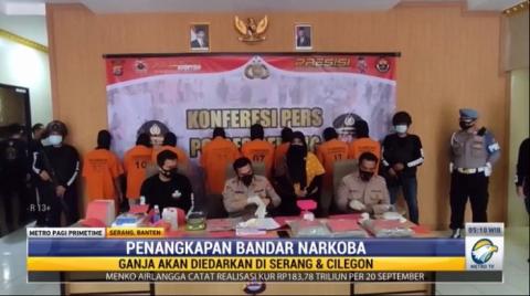 Polisi Berhasil Tangkap 7 Bandar Narkoba di Serang