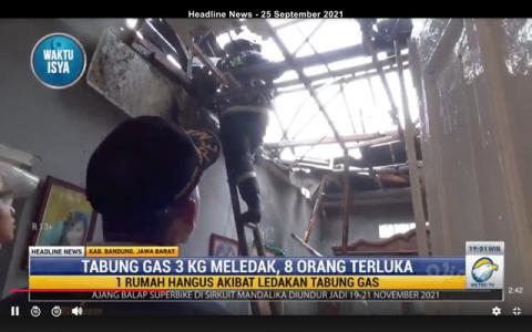 Kebakaran Akibat Gas LPG di Bandung, 1 Rumah Hangus dan 8 Orang Terluka