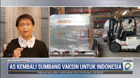 AS Salurkan Tambahan 800 Ribu Vaksin Covid-19 untuk Indonesia