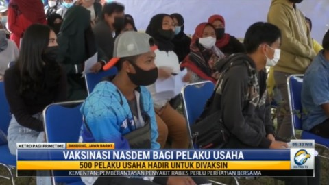 DPW NasDem Jabar Gelar Vaksinasi Bagi Pelaku Usaha Sektor Pariwisata