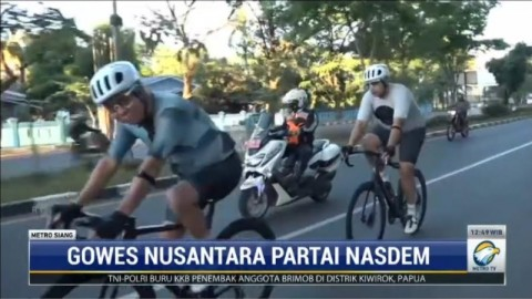 Gowes Nusantara Partai NasDem Kembali Hadir di Makassar