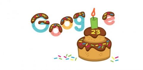 Google Doodle Hari Ini, Rayakan Ulang Tahun ke-23 Google