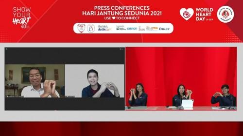 Konferensi Pers Yayasan Jantung Indonesia (YJI) Menyambut Hari Jantung Sedunia 2021 (Foto: YJI)
