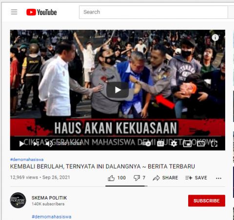 [Cek Fakta] Video Cikeas Gerakkan Mahasiswa Demi Kudeta Jokowi? Ini Faktanya