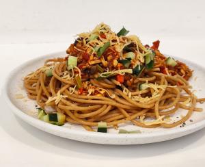 Cara Buat Spaghetti Gandum Bolognese Ayam yang Nikmat dan Lezat