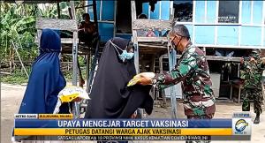 Kejar Target Vaksinasi di Bulukumba, TNI Datangi Rumah Warga Ajak Vaksinasi