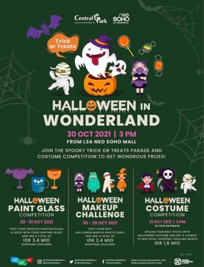 Halloween in Wonderland di Central Park dan Neo Soho, 11-31 Oktober 2021