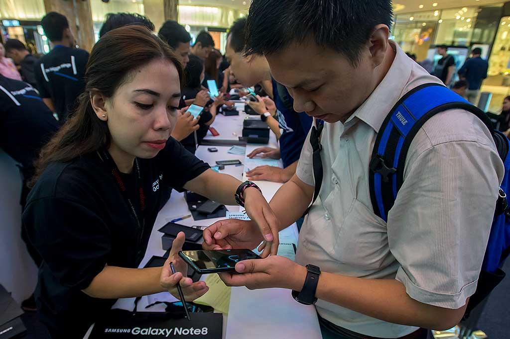 Antusias Pembeli Samsung Galaxy Note 8