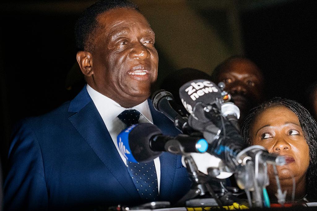 Emmerson Mnangagwa Presiden Baru Zimbabwe